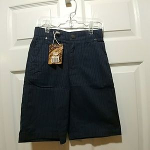 NWT Micros Blue Striped Shorts Sz 7